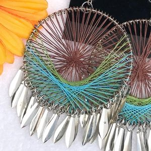 lane Bryant Jewelry - New! Large Boho Earrings Dream Catcher Dangles